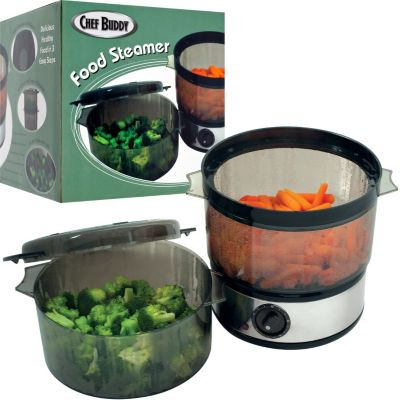 437-875 - Chef Buddy™ Food Steamer w/ Timer and Two Containers