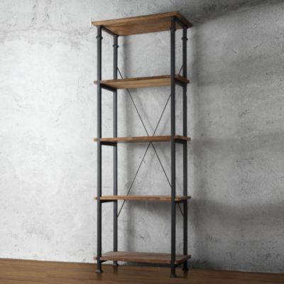 437-912 - Homebasica Rustic Inspired Bookcase