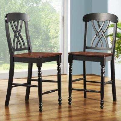 437-957 - HomeBasica Country Casual Set of Two Counter Height Chairs