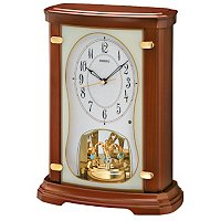 SEIKO MELODIES IN MOTION SWAROVSKI CRYSTAL PENDULUM MANTEL CLOCK