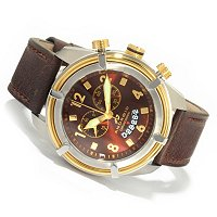 WTCH ANDROID NAVAL2 SWISS CHRONOGRAPH LEATHER STRAP WATCH