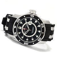 INVICTA PRO DIVER SCUBA GMT STAINLESS STEEL POLYURETHANE STRAP WATCH