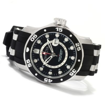 603-747 - Invicta Men's Scuba Pro Diver Swiss Quartz GMT Stainless Steel Strap Watch