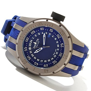 604-439 - Invicta Men's Coalition Force Swiss GMT Polyurethane Strap Watch