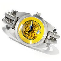 ANDROID MEN'S HYDRAUMATIC 6G OPEN HEART AUTOMATIC STAINLESS STEEL CUFF WATCH