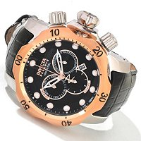INVICTA RESERVE MEN'S VENOM SWISS CHRONOGRAPH STAINLESS CASE LEATHER STRAP WATCH