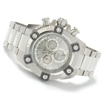 604-629 - Invicta Reserve Men's Arsenal Swiss Big Date Stainless Bracelet Watch