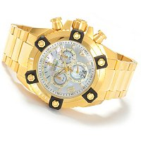 INVICTA RESERVE MEN'S ARSENAL SWISS CHRONOGRAPH BIG DATE MOTHER OF PEARL DIAL STAINLESS BRACELET WAT
