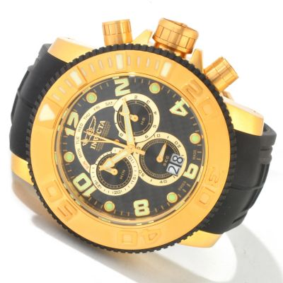 604-634 - Invicta Men's Pro Diver Sea Hunter Swiss Quartz Chronograph Big Date Polyurethane Strap Watch