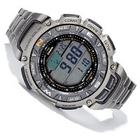 CASIO PATHFINDER TITANIUM QUARTZ SOLAR MULTI FUNCTION BRACELCET WATCH