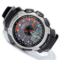 CASIO PATHFINDER ANA-DIGI MULTI -BAND 6 SOLAR MULTI FUNCTION STRAP WATCH