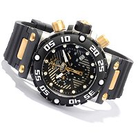 INVICTA MEN'S SUBAQUA NITRO SWISS CHRONOGRAPH STAINLESS CASE POLYURETHANE STRAP WATCH