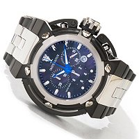 IMPERIOUS MEN'S X-WING SWISS CHRONOGRAPH MOTHER OF PEARL STAINLESS CASE & BRACELET WATCH