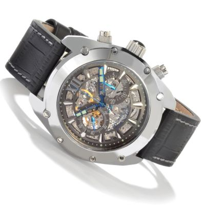 604-897 - Android Men's Limited Edition Virtuoso Mechanical Chronograph Leather Strap Watch