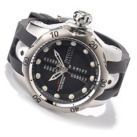 INVICTA RESERVE VENOM SWISS GMT STAINLESS CASE POLYURETHANE STRAP WATCH