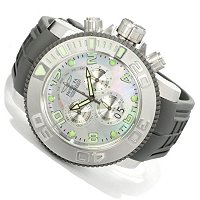 INVICTA MEN'S PRO DIVER SEA HUNTER SWISS CHRONOGRAPH BIG DATE POLYURETHANE STRAP WATCH