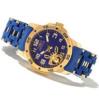 INVICTA MEN'S SEA SPIDER QUARTZ STAINLESS CASE POLYURETHANE BRACELET WATCH