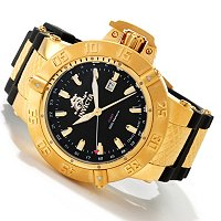 INVICTA MEN'S SUBAQUA NOMA III SWISS MADE QUARTZ GMT STAINLESS CASE POLYURETHANE STRAP WATCH