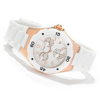 INVICTA WOMEN'S ANGEL JELLYFISH QUARTZ DAY & DATE SILICONE STRAP WATCH