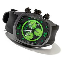 INVICTA MEN'S LUPAH REVOLUTION QUARTZ CHRONOGRAPH CERAMIC CASE POLYURETHANE STRAP WATCH