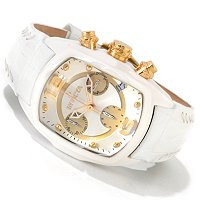 INVICTA WOMEN'S LUAPH REVOLUTION QUARTZ CHORNOGRAPH CERAMIC CASE LEATHER STRAP