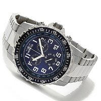 INVICTA MEN'S PILOT QUARTZ CHRONOGRAPH STAINLESS STEEL BRACELET WATCH