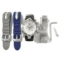 INVICTA RESERVE MEN'S OCEAN QUEST SWISS QUARTZ CHRONOGRAPH W/ TWO INTERCHANGEABLE STRAPS & BUCKET
