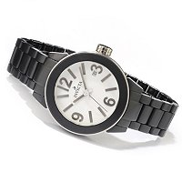 INVICTA WOMEN'S MATTE CERAMIC CASE & BRACELET WATCH