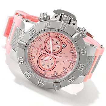 606-157 - Invicta Men's Subaqua Noma III Swiss Made Quartz Chronograph Light Pink Silicone Strap Watch