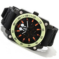 Disney Men's Mickey Mouse Luminous Accented Quartz Strap Watch