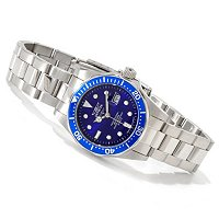 INVICTA WOMEN'S PRO DIVER QUARTZ MOVEMENT STAINLESS CASE & BRACELET WATCH