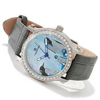 Constantin Weisz Women's Crystal Accented Penguin Dial Automatic Strap Watch