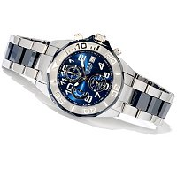 TTV INVICTA MEN'S CERAMIC QUARTZ CHRONO TUNGSTEN/CERAMIC BRACELET WATCH