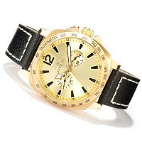 Invicta Men's Specialty Leather Stap Watch