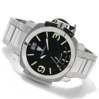 IMPERIOUS MEN'S MAN OF WAR SWISS MADE QUARTZ DAY RETRO STAINLESS BRACELET WATCH