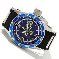 INVICTA MEN'S AVIATOR QUARTZ POLYURETHANE STRAP WATCH