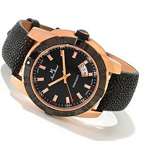 JEAN MARCEL SWISS MADE ROSETONE MYSTICA STINGRAY STRAP WATCH