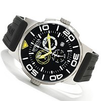 INVICTA RESERVE MEN'S SEA VULTURE SWISS CHRONOGRAPH POLYURETHANE STRAP WATCH