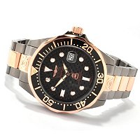 INVICTA MEN'S GRAND DIVER AUTOMATIC STAINLESS BRACELET WATCH W/ 3 SLOT DC