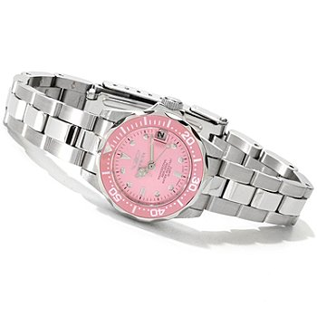 606-724 - Invicta Women's Pro Diver Quartz Stainless Steel Bracelet Watch