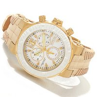 Invicta Reserve Women's Ocean Reef Swiss Quartz Chrono Leather Strap Watch