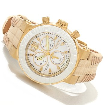 606-735 - Invicta Reserve Women's Ocean Reef Swiss Chronograph Diamond Accented Strap Watch