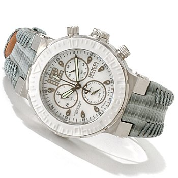 606-753 - Invicta Reserve Women's Ocean Reef Swiss Chronograph Mother-of-Pearl Strap Watch