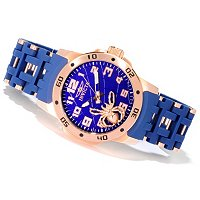 Invicta Men's Sea Spider Quartz Movement Polyurethane Bracelet Watch