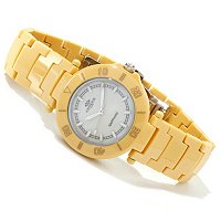 Oniss Women's Verraton Collection Mother of Pearl Dial Ceramic Watch