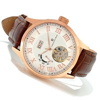 Constantin Weisz Gents Automatic Power Reserve Leather Strap Watch