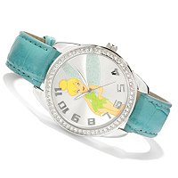 Disney Women's Collectible Characters Leatherette Strap Quartz Watch