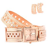 Arm Candy Women's Bangle Watch w/coordinating braclet & earrings