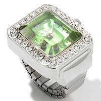 Arm candy Women's Faseted Crystal jewel ring Watch