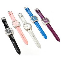 Arm Candy Women's Set of 5 patent leather strap watches